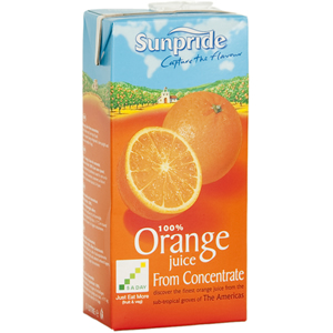SUNPRIDE ORANGE JUICE CARTONS (1L) x 12