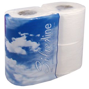SILVERLINE SUPER SOFT 2 PLY TOILET ROLLS (4-roll packs) x 10