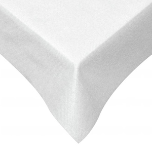 SWANSOFT TABLE COVERS WHITE (120x120cm) x 10