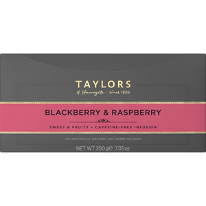 TAYLORS OF HARROGATE BLACKBERRY & RASPBERRY TAG & ENVELOPE TEA BAGS (100 bags)