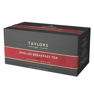 TAYLORS OF HARROGATE ENGLISH BREAKFAST ENVELOPE & TAG (100 BAGS)