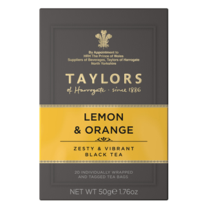 TAYLORS OF HARROGATE LEMON & ORANGE TEA BAGS (20 bags)