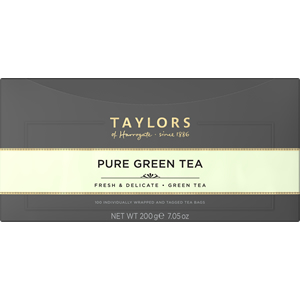TAYLORS OF HARROGATE PURE GREEN TAG & ENVELOPE TEA BAGS (100 bags)