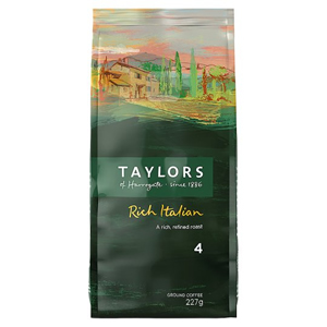 TAYLORS OF HARROGATE RICH ITALIAN COFFEE (227g) x 6