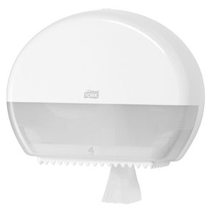 TORK MINI JUMBO TOILET ROLL DISPENSER (T2) WHITE