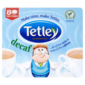 TETLEY DECAFFEINATED TEA BAGS (80 bags)