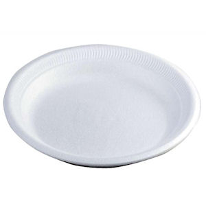TRIM PLATE DISPOSABLE 9in LUNCHEON PLATES WHITE x 600
