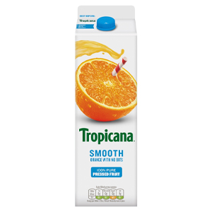 TROPICANA SMOOTH ORANGE JUICE (950ml) x 6