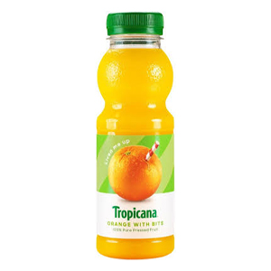 TROPICANA ORANGE JUICE WITH BITS (300ml) x 8