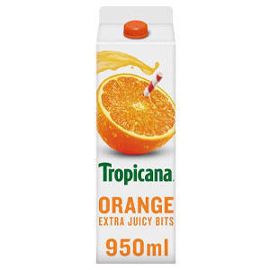 TROPICANA ORANGE JUICE WITH BITS (950ml) x 6