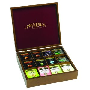 TWININGS 12 COMPARTMENT WOODEN TEA DISPLAY BOX