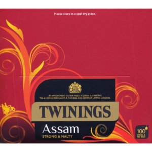 TWININGS PURE ASSAM TEA BAGS (100 bags)