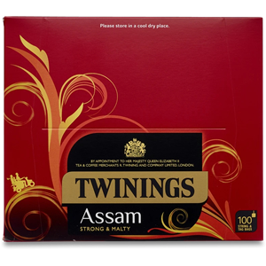 TWININGS PURE ASSAM TAGGED TEA BAGS (100 bags)