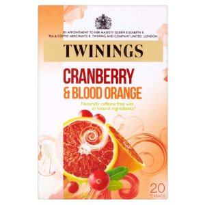 TWININGS CRANBERRY & BLOOD ORANGE TEA BAGS (20 bags)