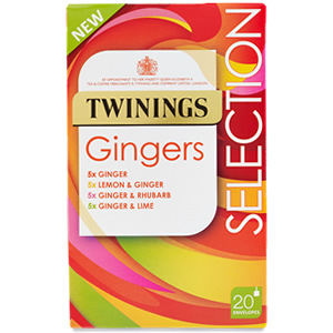 TWININGS GINGERS SELECTION  TAG & ENVELOPE TEA BAGS (20 bags)