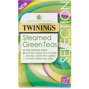 TWININGS STEAMED GREEN TEA SELECTION ENVELOPED (20 bags)