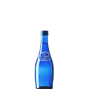 TY NANT MINERAL WATER SPARKLING - BLUE GLASS BOTTLES (330ml) x 24