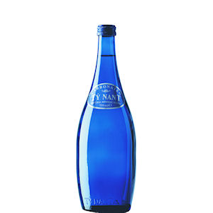 TY NANT MINERAL WATER SPARKLING - BLUE GLASS BOTTLES (750ml) x 12