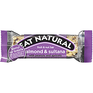 EAT NATURAL BARS SULTANA & ALMOND (45g) x 12