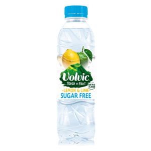 VOLVIC TOUCH OF FRUIT LEMON & LIME - SUGAR FREE (500ml) x 12