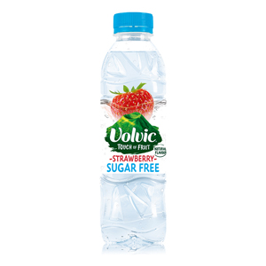 VOLVIC TOUCH OF FRUIT STRAWBERRY - SUGAR FREE (500ml) x 12