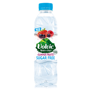 VOLVIC TOUCH OF FRUIT SUMMER FRUITS SUGAR FREE (500ml) x 12