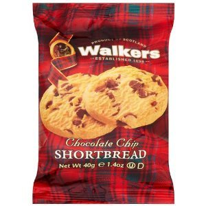 WALKERS MINI PACK CHOCOLATE CHIP SHORTBREAD BISCUITS (2-pack) x 60
