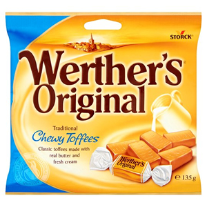 WERTHER'S ORIGINAL CHEWY TOFFEES (135g) x 15
