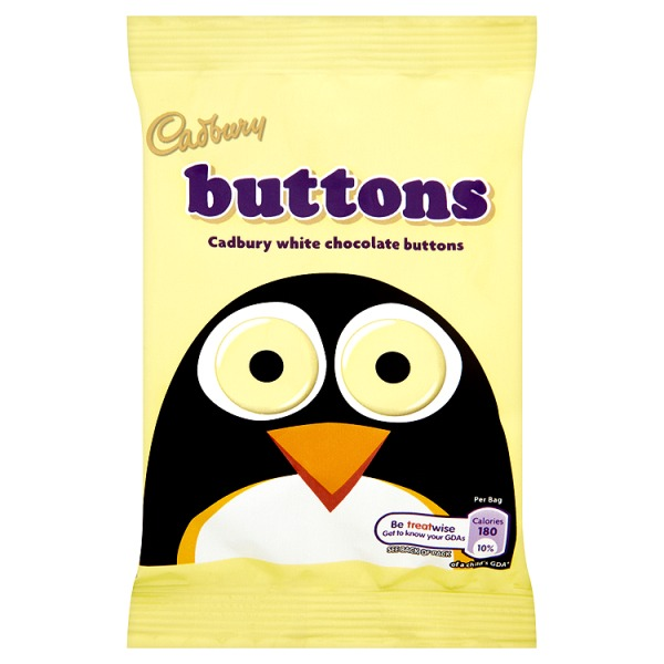 CADBURY WHITE CHOCOLATE BUTTONS (30g) x 48