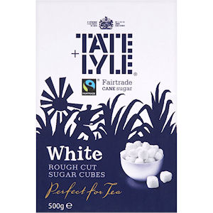 TATE & LYLE WHITE ROUGH CUT SUGAR CUBES (750g)
