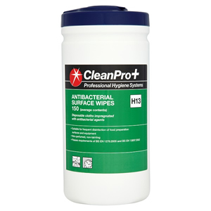 CLEAN PRO ANTIBACTERIAL SURFACE WIPES (150-pack)