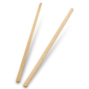 DISPOSABLE WOODEN 5.5in STIRRERS x 1000