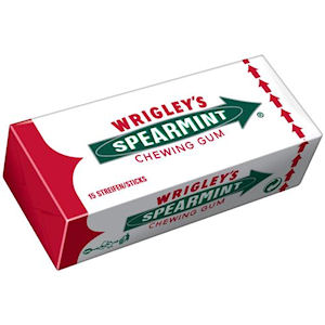 WRIGLEY'S SPEARMINT CHEWING GUM (7-pieces) x 14 packs