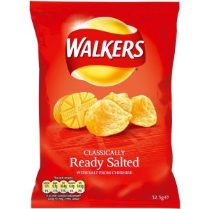WALKERS READY SALTED (32.5g) x 32