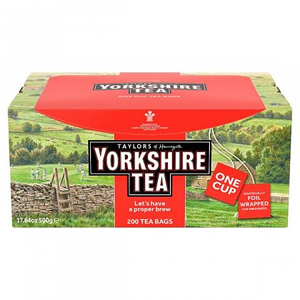 YORKSHIRE TEA ENVELOPED & TAGGED BAGS (200 bags)
